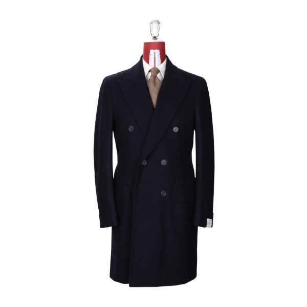 ORAZIO LUCIANO MOD.202 POLO COAT / FOX BROTHERS DARK NAVY HERRINGBONE PRODUCT.47