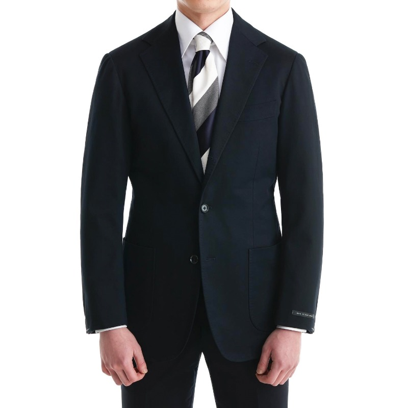 ANDREA SEOUL WHITE LABEL X RING JACKET (화이트라벨 등급) SUITS(JACKET+PANTS) X JAPAN, DARK NAVY COTTON