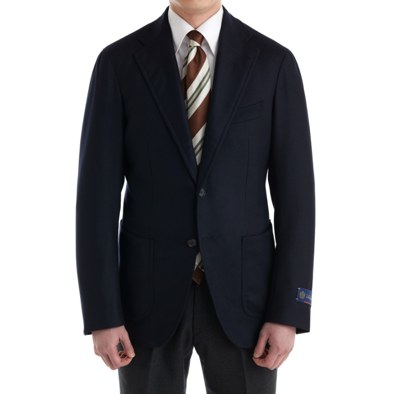 CASA DEL SARTO BLACK LABEL (SARTORIA 金珉秀 패턴) SPORTS COAT X ITALY, DRAPERS ROYAL CASHMERE BUNCH DARK NAVY CASH WOOL