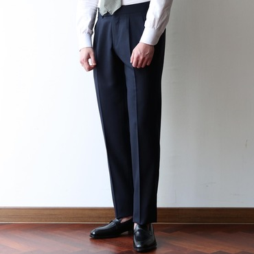 RING JACKET BLACK LABEL CALM TWIST DARK NAVY 2 PLEATS PANTS ( S-178SA )