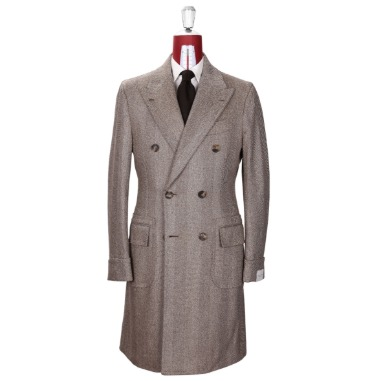 ORAZIO LUCIANO MOD.202 POLO COAT / LORO PIANA PECORA NERA BIG HERRINGBONE PRODUCT.48