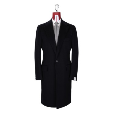 ORAZIO LUCIANO SINGLE COAT COAT / DRAPERS 100% CASHMERE DARK NAVY PRODUCT.50