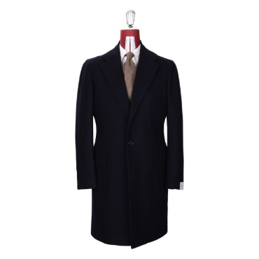 ORAZIO LUCIANO SINGLE COAT COAT / FOX BROTHERS DARK NAVY HERRINGBONE PRODUCT.52