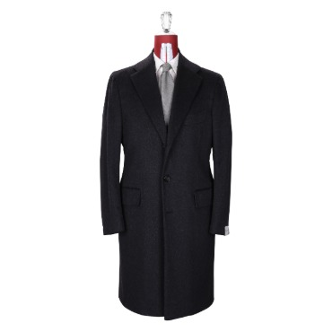 ORAZIO LUCIANO SINGLE COAT COAT / DRAPERS 100% CASHMERE CHARCOAL GREY PRODUCT.51
