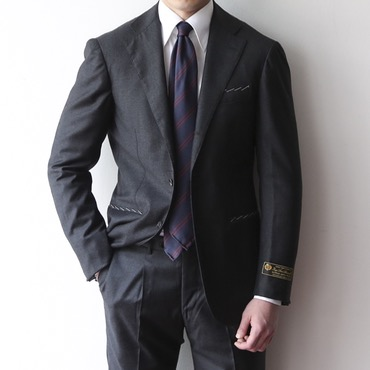 [ONE SIZE SALE] RING JACKET X ANDREA SEOUL H GRADE(링마에) / ITALY, LORO PIANA CHARCOAL GREY SUITS
