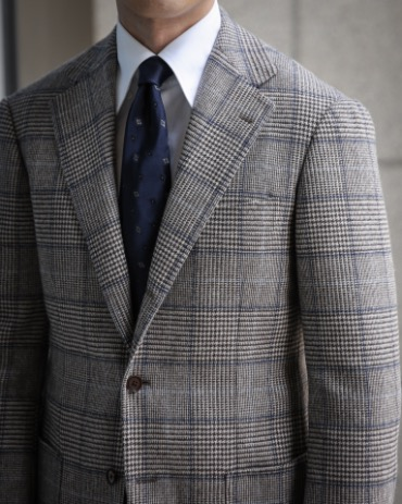 RING JACKET BLACK LABEL X FOX BROTHERS BROWN / BLUE / SKY BLUE CHECK SPORTS COAT