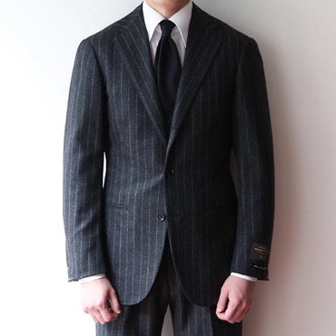 RINGJACKET X ANDREA SEOUL BLACK LABEL X ITALY, V.B.C CHARCOAL GREY CHALK STRIPES SUITS