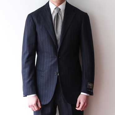 RINGJACKET X ANDREA SEOUL BLACK LABEL X ITALY, V.B.C DARK NAVY CHALK STRIPES SUITS