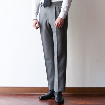 ITALY, ROTA PANTALONI DI SARTORIA LIGHT GREY(350g) 2 PLEATS