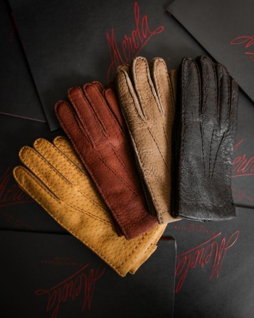 ITALY, MEROLA GLOVES CASHMERE LINING PECARY
