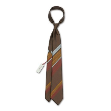 SEVEN FOLD SRL / KENJI KAGA 7 Folds Ties / Art.Riga Brown