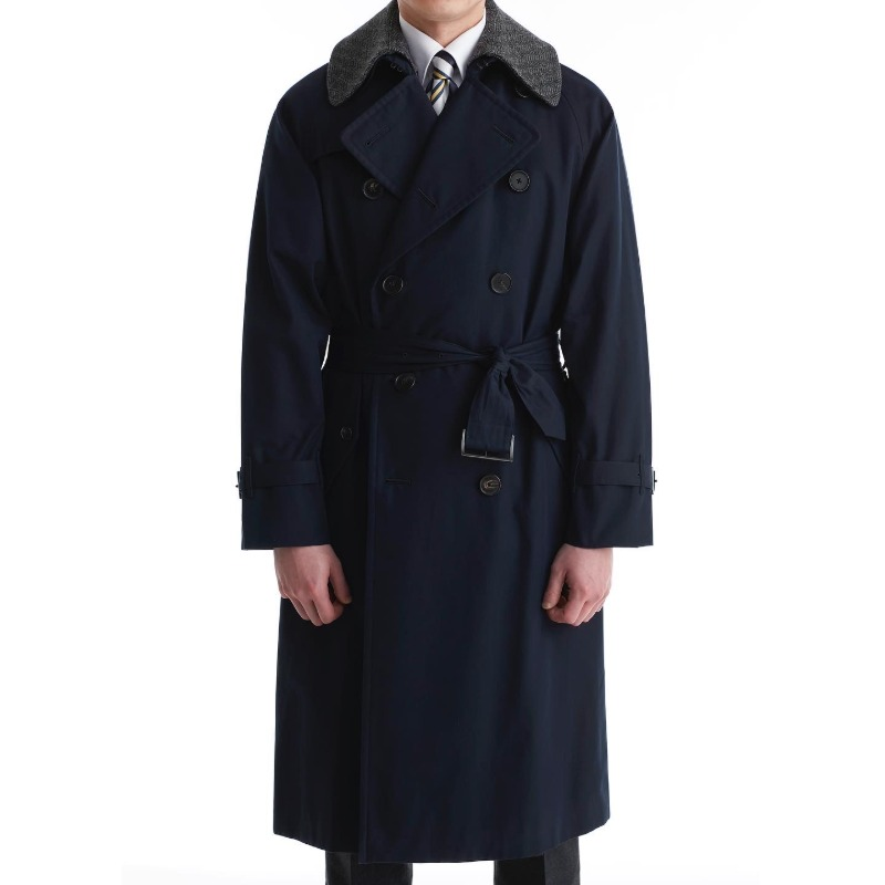 COHERENCE AL II TRENCH COAT X GABARDINE DARK NAVY