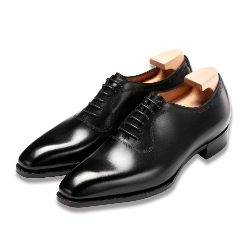 GAZIANO & GIRLING BOWLLY (DECO MODEL) BLACK CALF DECO SQUARE LAST
