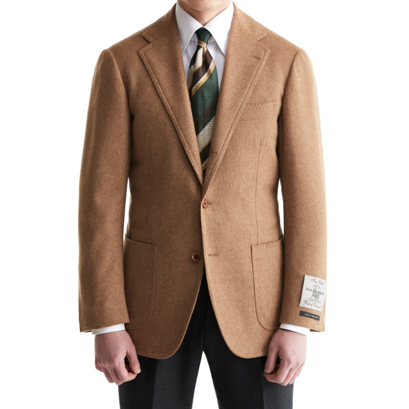 ANDREA SEOUL BLACK LABEL X RING JACKET (블랙라벨 등급) SPORTS COAT X ENGLAND, FOX BROTHERS CAMEL