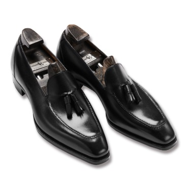 GAZIANO & GIRLING CORNICHE BLACK CALF DECO SQUARE LAST