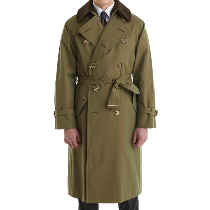COHERENCE AL II TRENCH COAT X GABARDINE GREEN