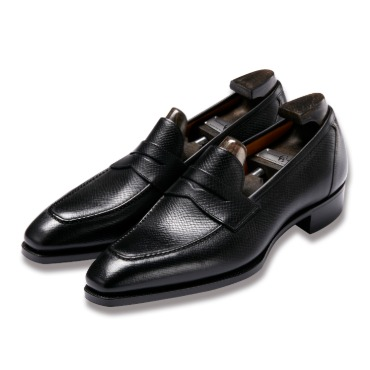 GAZIANO & GIRLING MONACO  BLACK HATCH GRAIN DECO SQUARE LAST