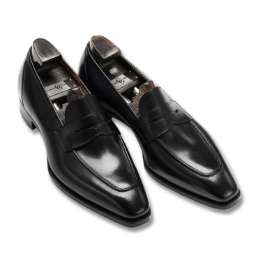 GAZIANO & GIRLING MONACO BLACK CALF DECO SQUARE LAST
