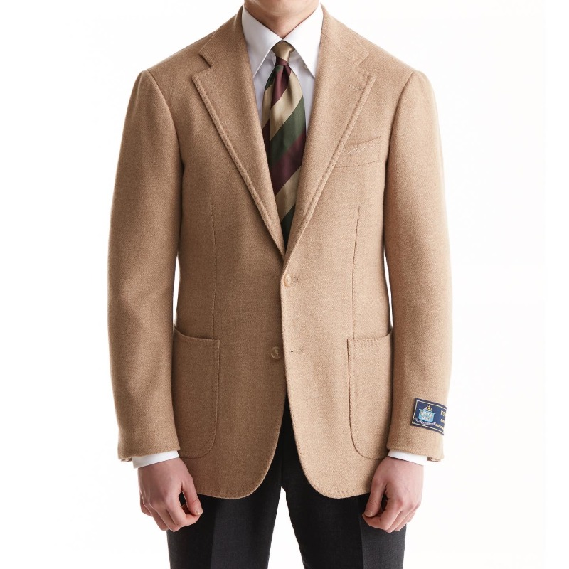 ANDREA SEOUL H GRADE X RING JACKET (링마에등급) SPORTS COAT X ENGLAND, FOX BROTHERS CAMEL BEIGE