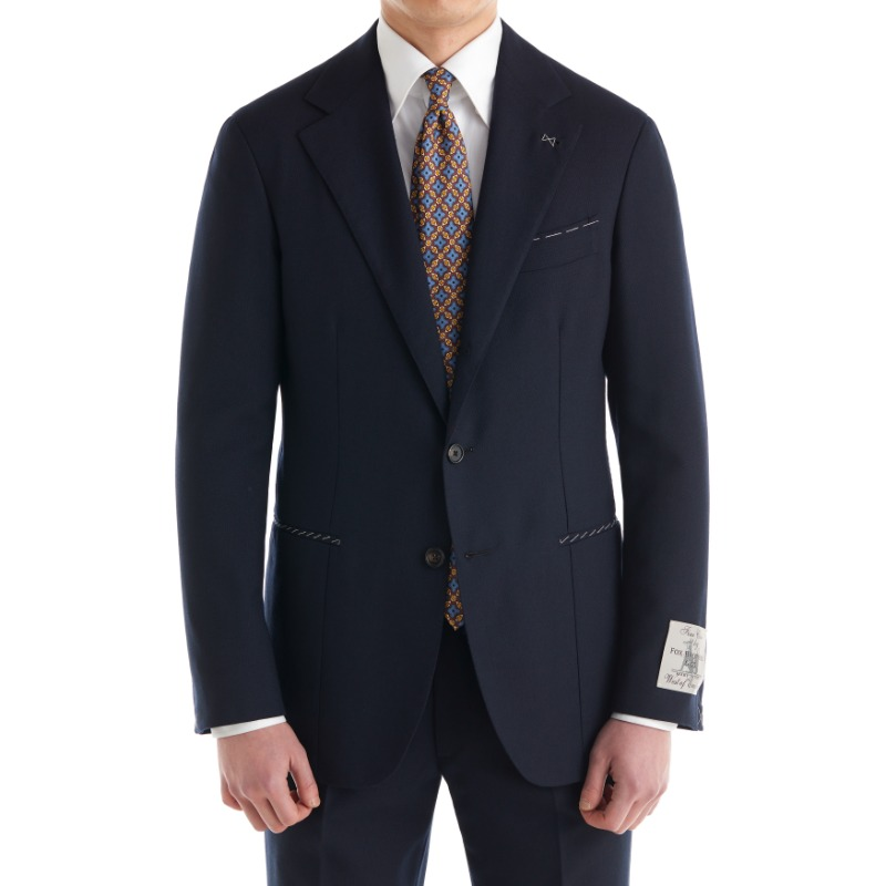 CORALLO ROSSO SUITS(JACKET+PANTS) X ENGLAND, FOX BROTHERS DARK NAVY