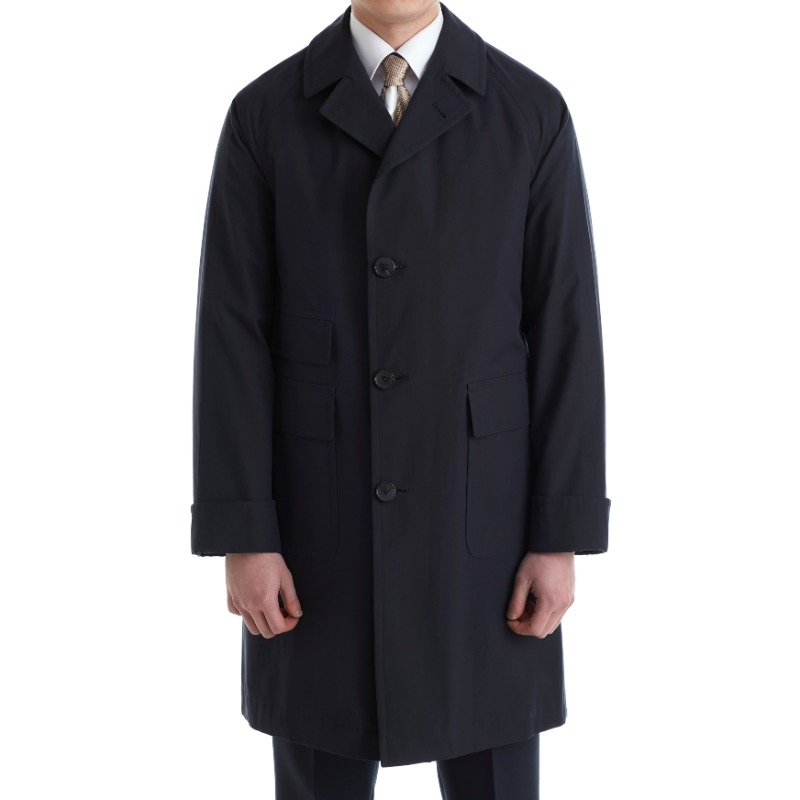 COHERENCE CORB II TRENCH COAT X POPLIN DARK NAVY