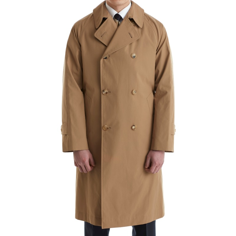 COHERENCE FOUFOU II DOUBLE BALMACAAN COAT X POPLIN BROWN