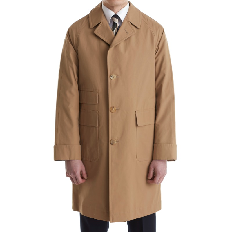COHERENCE CORB II TRENCH COAT X POPLIN BROWN