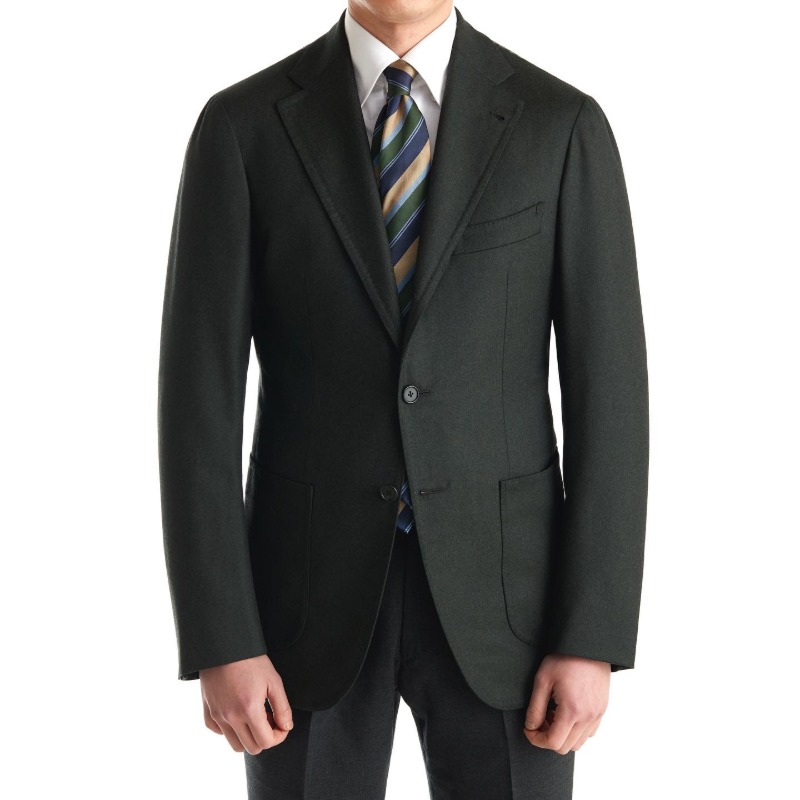 CASA DEL SARTO BLACK LABEL (SARTORIA 金珉秀 패턴) SPORTS COAT X ITALY, VITALE BARBERIS CANONICO DARK GREEN