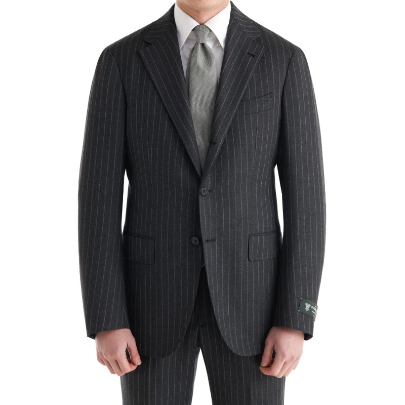 CASA DEL SARTO BLACK LABEL (SARTORIA 金珉秀 패턴) SUITS(JACKET+PANTS) X ENGLAND, DORMEUIL AMADEUS CHARCOAL GREY STRIPES