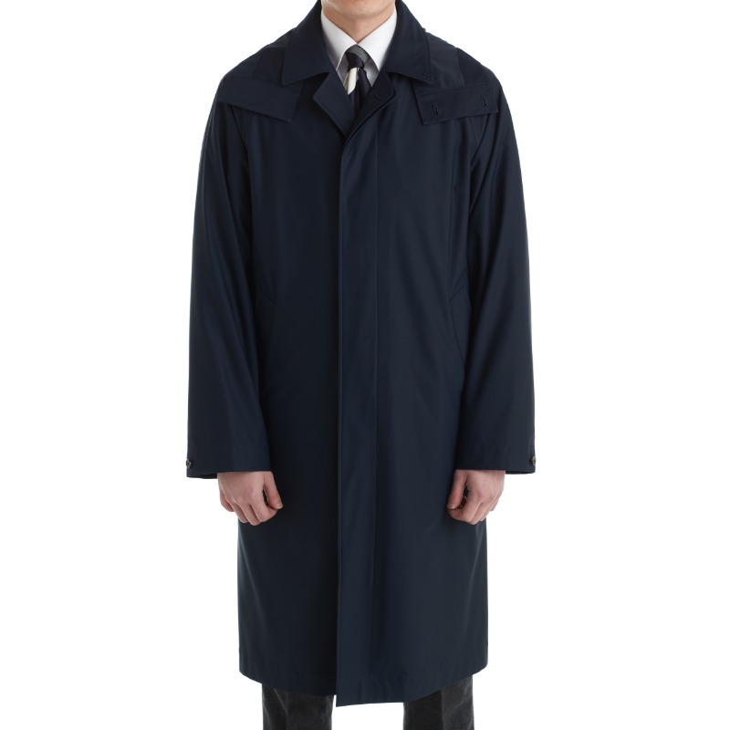 COHERENCE RUIZ TRENCH COAT X DARK NAVY JERSEY